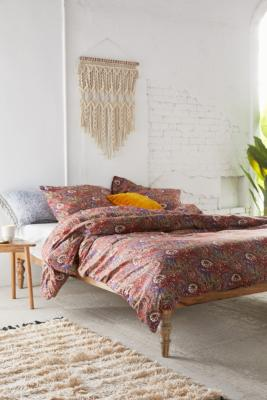 Red Paisley Duvet Cover Set by Urban Outfitters