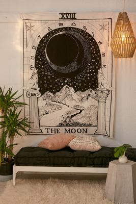 The Moon Tarot Card Tapestry by Urban Outfitters