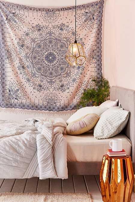 Emilia medallion fringe tapestry