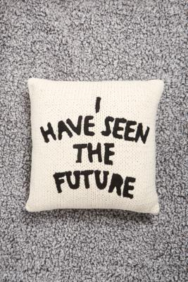 I Have Seen The Future Black Cushion by Urban Outfitters