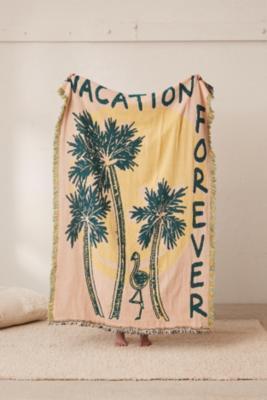 Calhoun & Co. X Uo Vacation Forever Throw Blanket by Calhoun &Amp; Co.