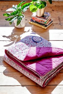 Pink Ditsy Floral Embroidered Quilt - Pink ALL at Urban Outfitters