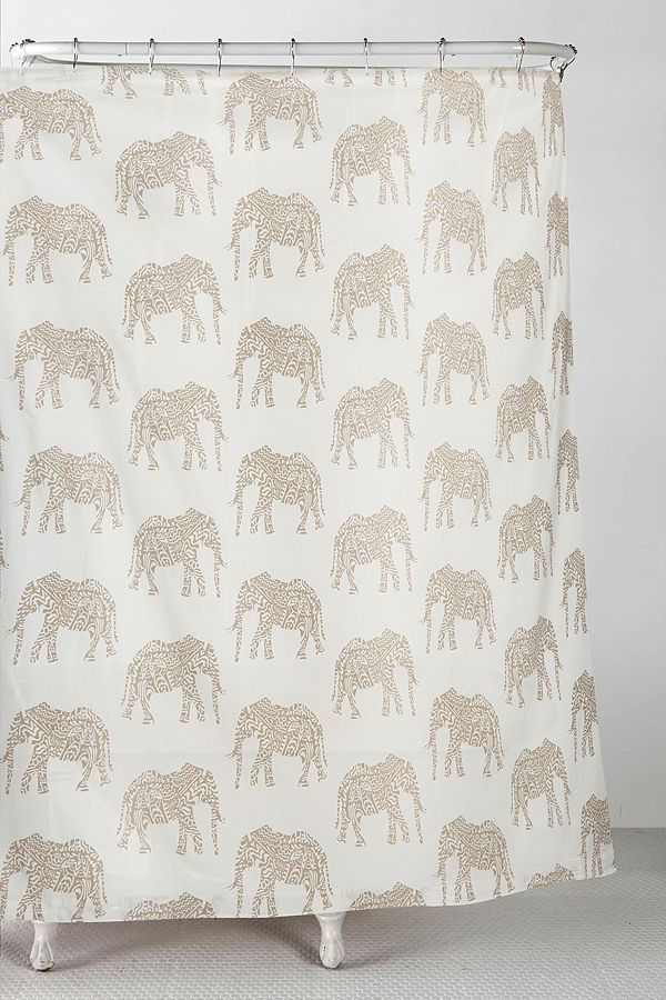 Your Urban Outfitters Gallery Elephant Shower Curtain
