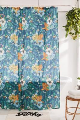 Tropical Shower Curtain By Urban Outfitters