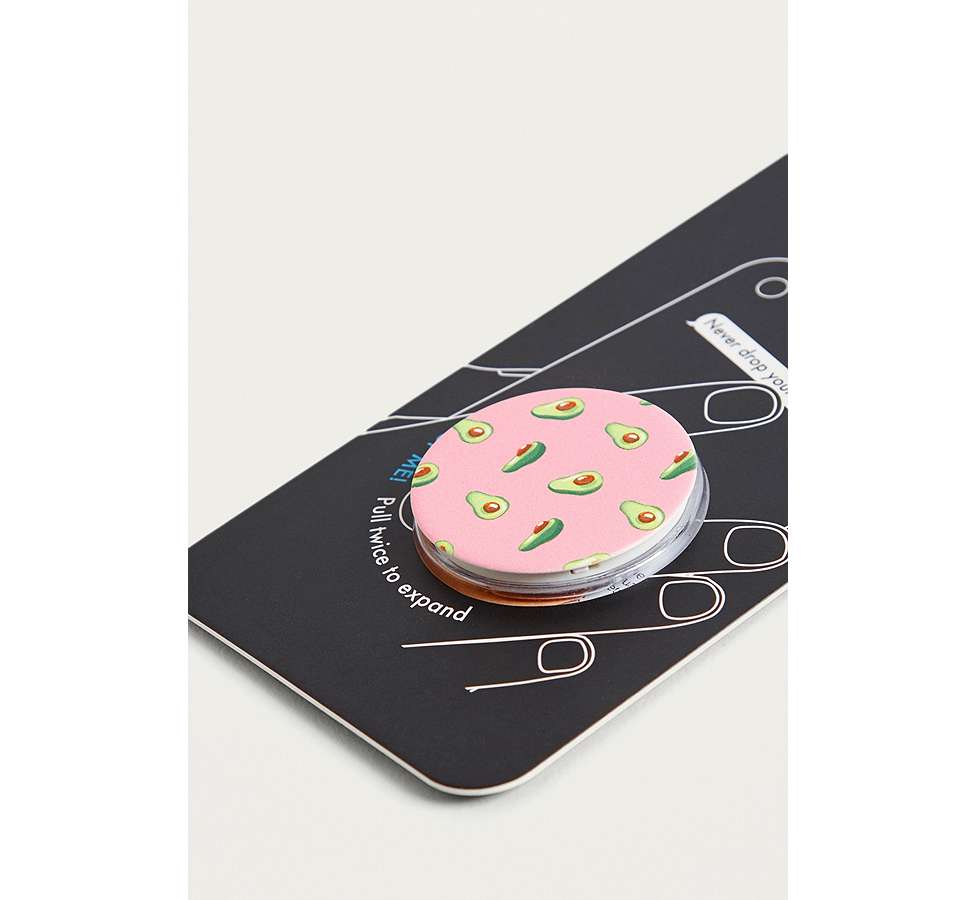 Slide View: 3: PopSockets – Smartphone-Ständer in Rosa mit Avocadomotiven