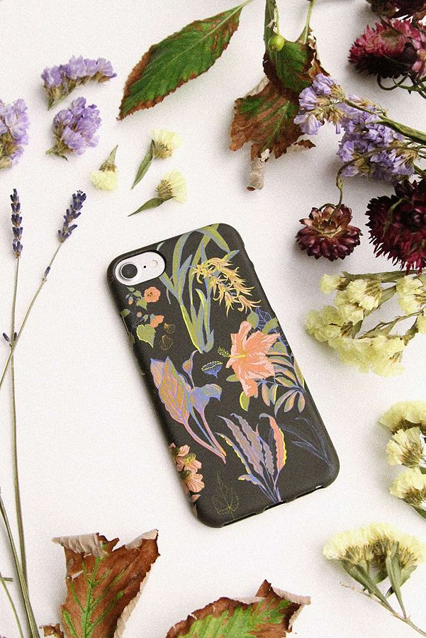 Black Floral Iphone 66s78 Case Urban Outfitters Uk
