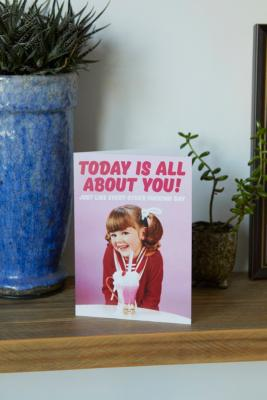 All About You Birthday Card - Assorted ALL at Urban Outfitters