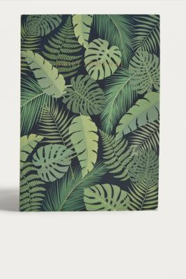 Central 23   Agenda Dark Monstera Motif Feuilles by Urban Outfitters