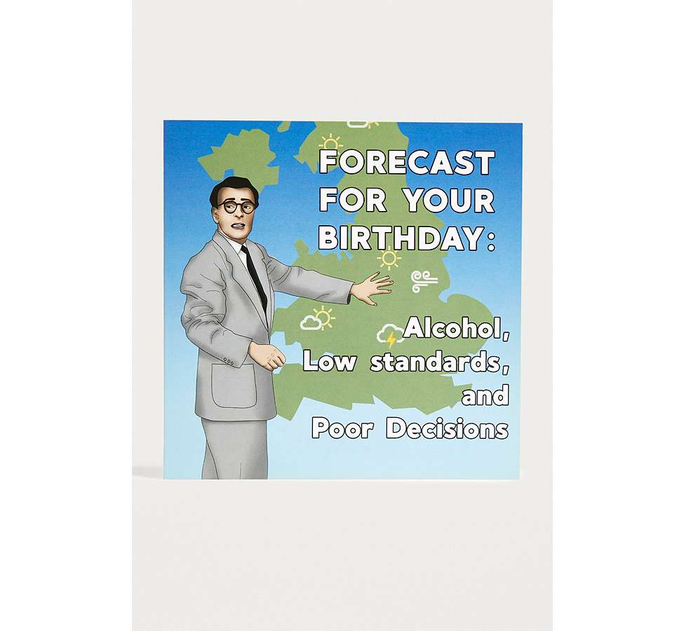 "Slide View: 1: Geburtstagskarte ""Forecast For Your Birthday"""