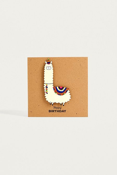 Greeting cards urban outfitters llama happy birthday card bookmarktalkfo Image collections