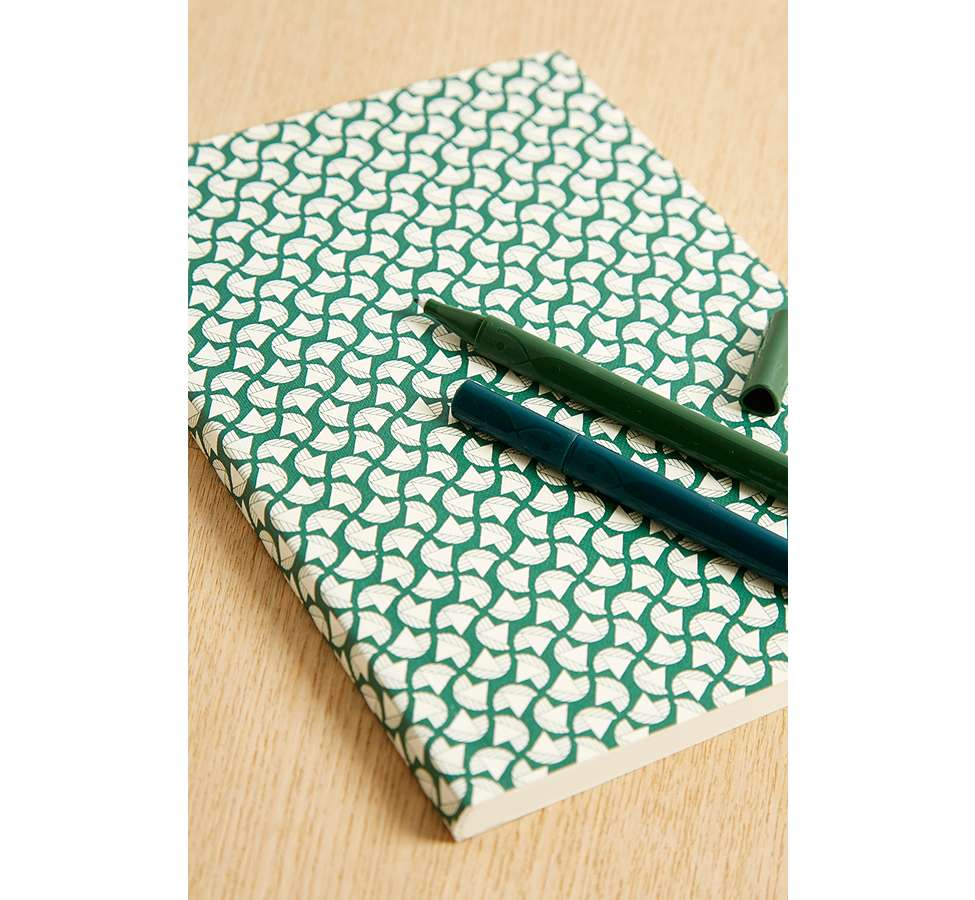 Slide View: 1: Ola Studio Patterned Notebook