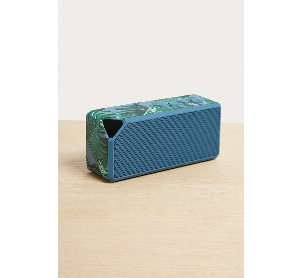 Slide View: 1: UO Blue Palm Portable Speaker