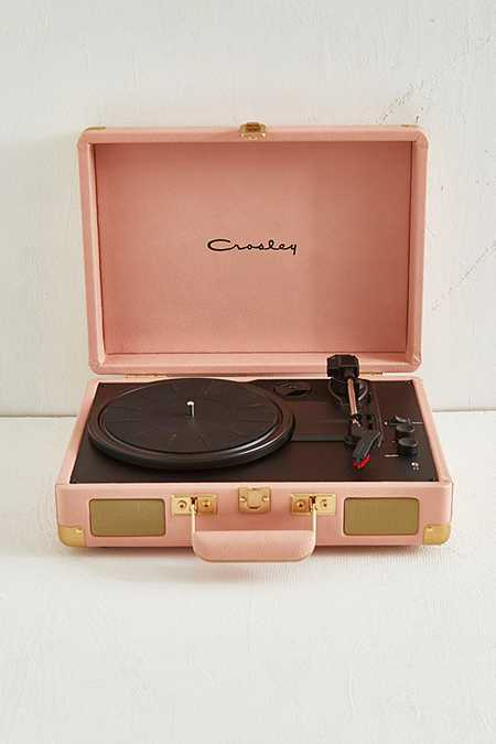 Crosley Pink and Gold Cruiser Bluetooth Vinyl Record Player