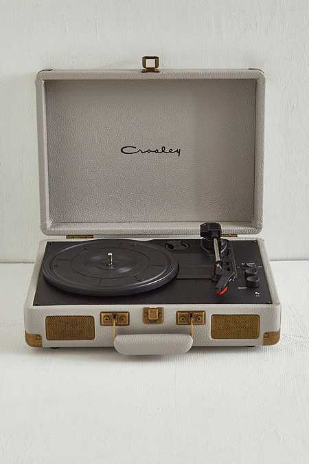 Crosley Antique Grey Cruiser Bluetooth Vinyl Record Player