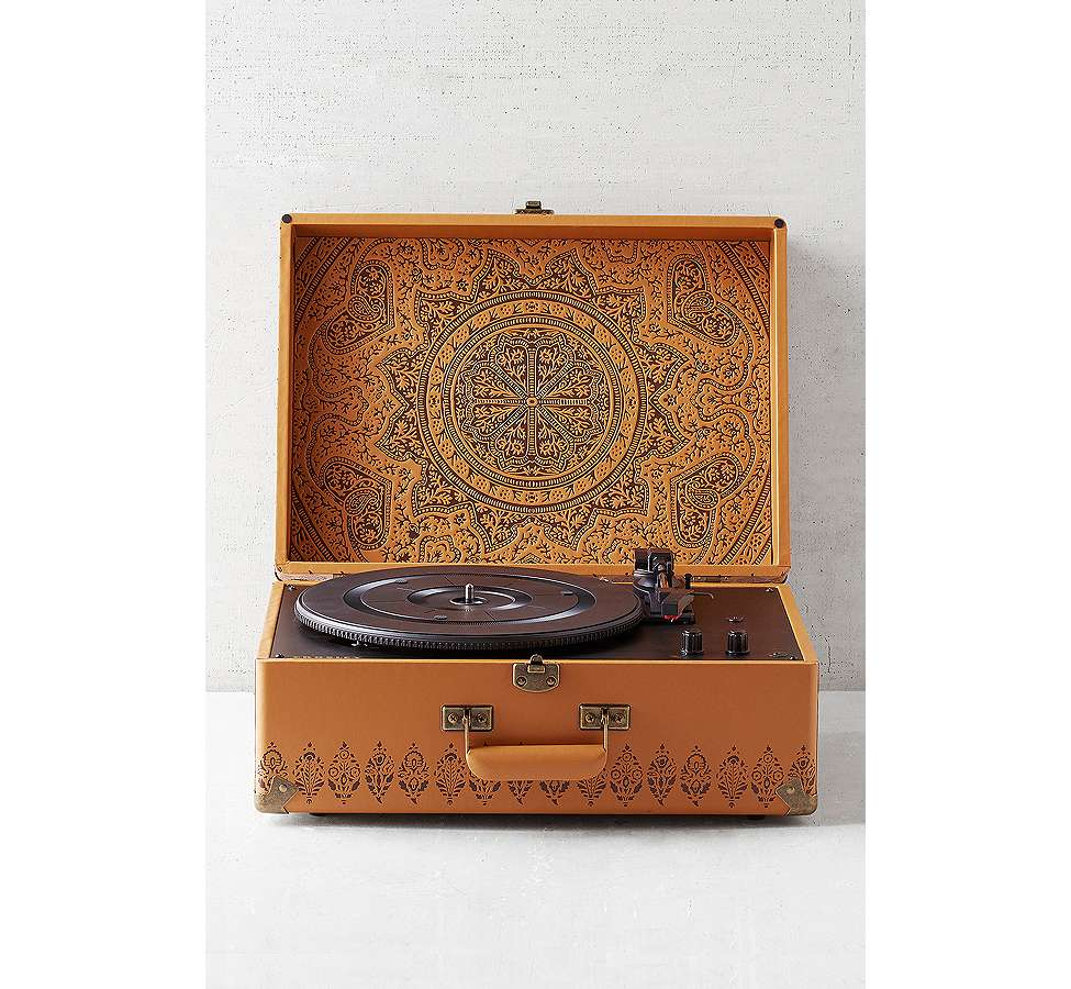 Slide View: 1: Crosley X UO Keepsake Embossed Portable Vinyl Record Player