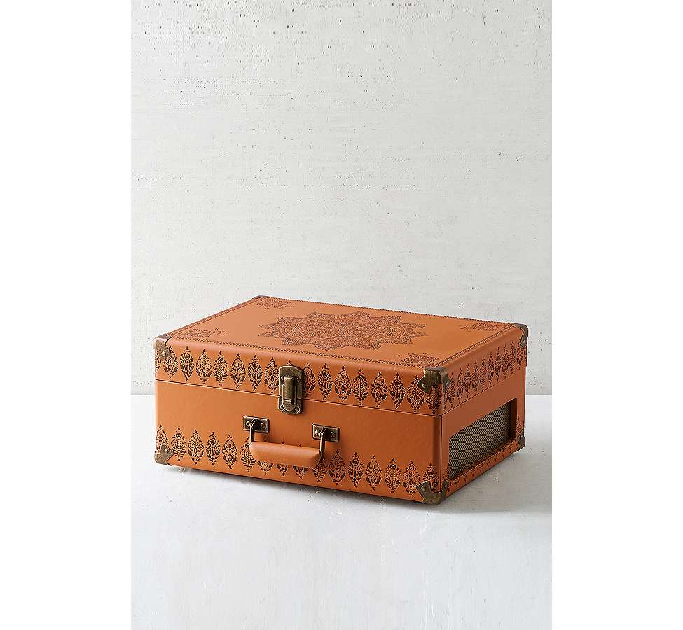 Slide View: 2: Crosley X UO Keepsake Embossed Portable Vinyl Record Player