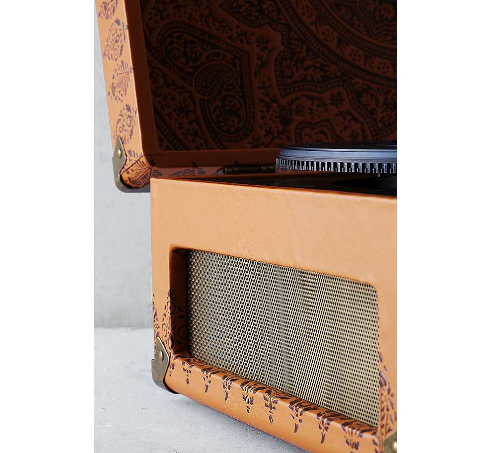 Slide View: 5: Crosley X UO Keepsake Embossed Portable Vinyl Record Player