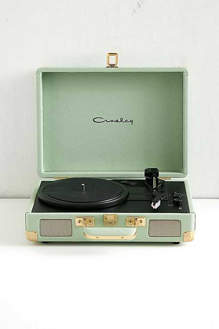 Crosley Cruiser Mint and Gold Bluetooth Vinyl Record Player