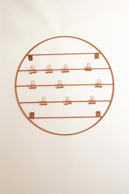 Circle Wire Wall Grid   Copper by Urban Outfitters