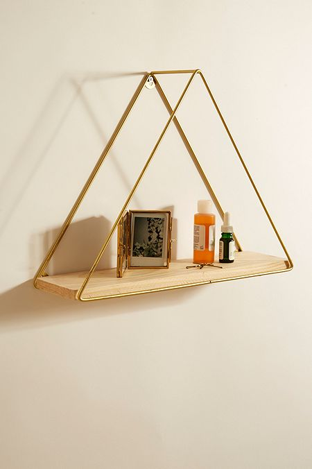 Homeware home accessories dcor urban outfitters urban gold triangle shelf gumiabroncs Image collections