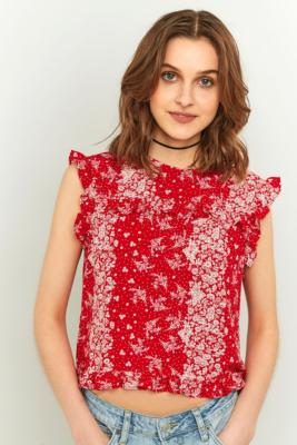 urban-outfitters-floral-ruffle-smock-top-womens-s