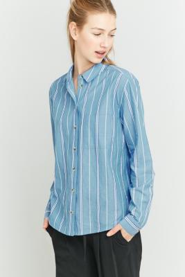 urban-outfitters-blue-striped-button-down-shirt-womens-m