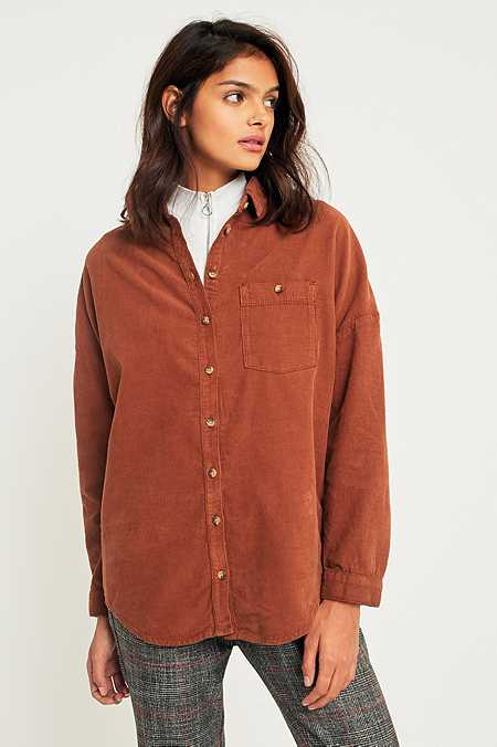 BDG Corduroy Dolman Sleeve Button-Down Shirt