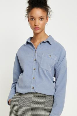 BDG - BDG Corduroy Dolman Sleeve Button-Down Shirt, Blue