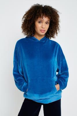 BDG - BDG Velour Hoodie, blue