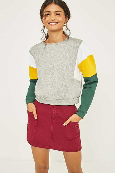 BDG - Sweat court color block gris