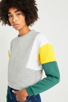BDG - BDG Grey Colour-Blocked Sweatshirt, Grey