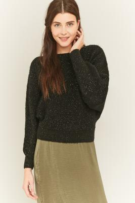 urban-outfitters-black-lurex-batwing-jumper-womens-l