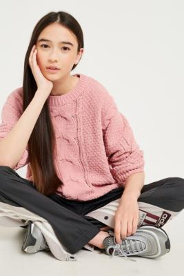 BDG - BDG Chenille Cable Knit Jumper, Pink