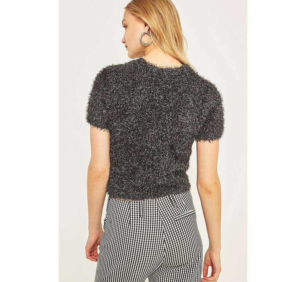 Slide View: 4: Urban Outfitters Firework Cropped Fuzzy Jumper