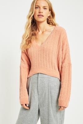 Silence + Noise - Silence + Noise Slouchy Chenille Jumper, Pink