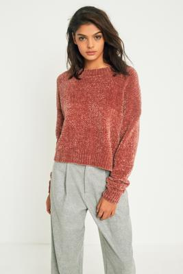 Cooperative by Urban Outfitters - Urban Outfitters Cosy Chenille Crew Neck Jumper, Brown