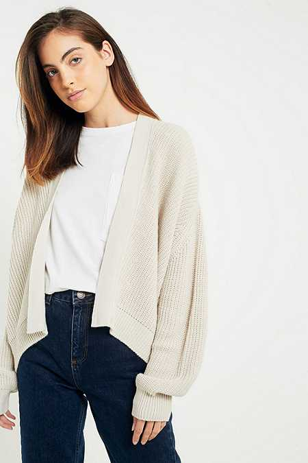 Light Before Dark – Cardigan im Bomber-Style mit Fledermausärmeln