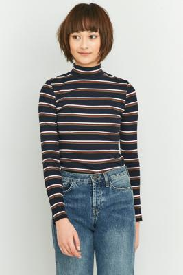 urban-outfitters-navy-striped-turtleneck-womens-m