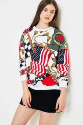 Tommy Jeans - Tommy Jeans '90s Capsule Flag Print Sweatshirt, Assorted