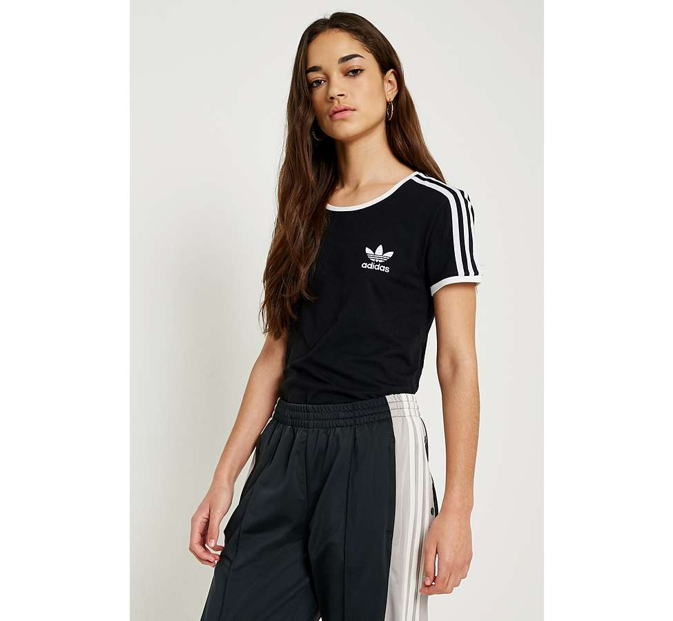 Slide View: 3: adidas Originals - T-shirt noir Sandra à 3 bandes