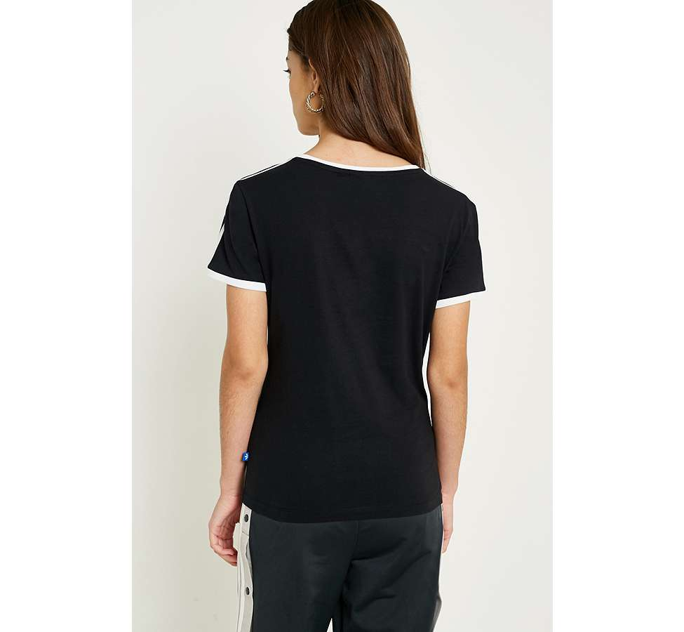 Slide View: 4: adidas Originals - T-shirt noir Sandra à 3 bandes