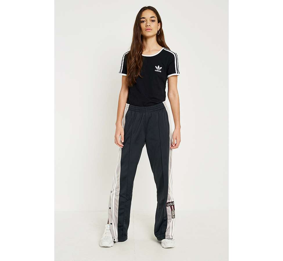 Slide View: 5: adidas Originals - T-shirt noir Sandra à 3 bandes