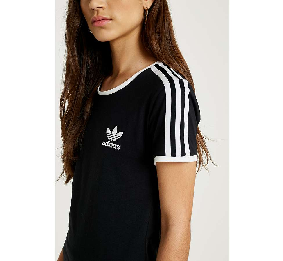 Slide View: 6: adidas Originals - T-shirt noir Sandra à 3 bandes