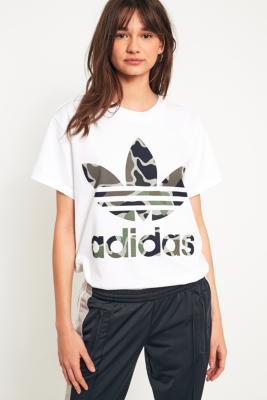 Adidas Originals - adidas Originals Camo Big Trefoil T-Shirt, White