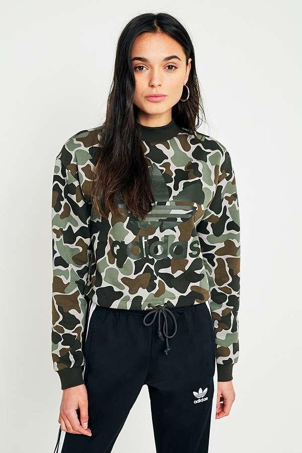 adidas Originals Camo Trefoil Sweatshirt  1db19a8bcb
