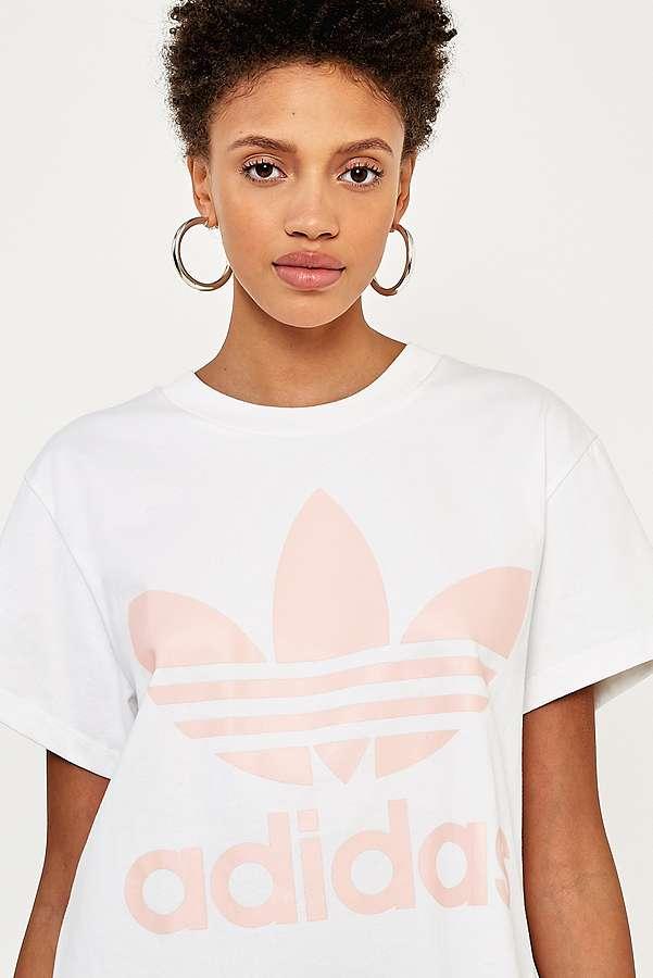 adidas Originals Big Pink Trefoil Logo T-Shirt   Urban Outfitters