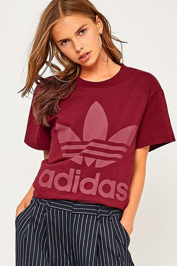 Originals Trefoil Adidas Burgundy Outfitters Uk Logo T Urban Big Shirt ROqwOxCgd