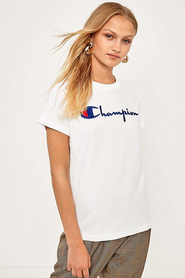 Champion White Logo T-Shirt  87d267a43