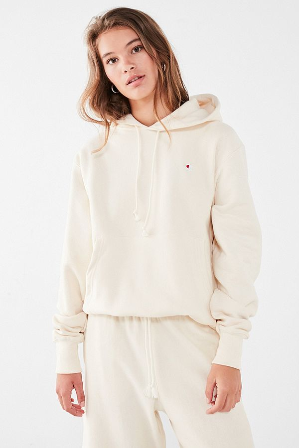 256db37e8bbf Champion   UO Cream Reverse Weave Hoodie   Urban Outfitters UK