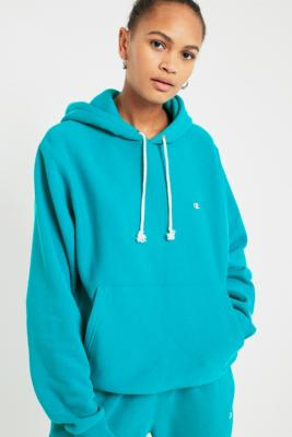 Champion - Champion  &  UO Turquoise Reverse Weave Hoodie, Blue